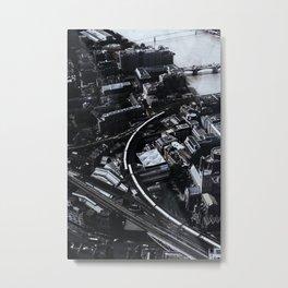 BnW City Metal Print