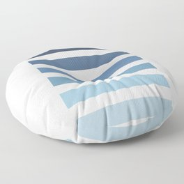Sky and Water Blue Palette Floor Pillow