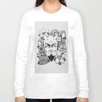 satan Long Sleeve T-shirts featuring Floral Satan by Shaina Stern