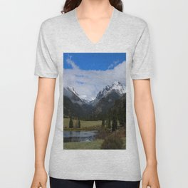 A Beautiful View Unisex V-Neck