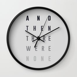 And Then There Were None Wall Clock