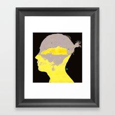 孤岛II - Swan lake Framed Art Print