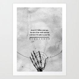 A Universe in a fist. Art Print