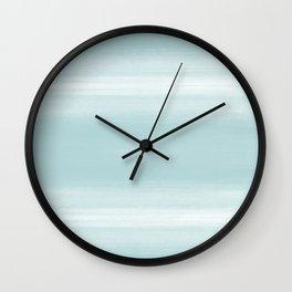 Blue watercolor pattern Wall Clock