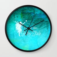 fairy tale Wall Clocks featuring Fairy Tale by Veronica Ventress
