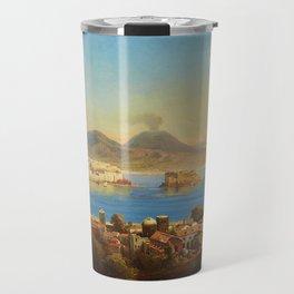 The Bay of Naples, Italy by Gustav Zick Travel Mug
