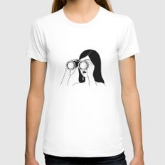 You're so far away Womens Fitted Tee White LARGE