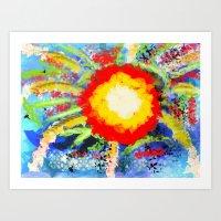 blow of colours Art Print