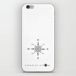 Compass rose iPhone Skin