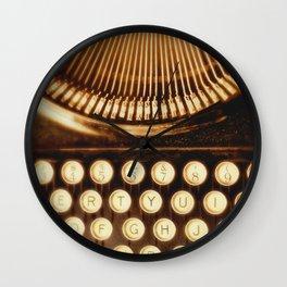 Typewriter photo.  Ink Slinger No.2 Wall Clock