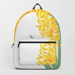 yellow hyacinth watercolor Backpack
