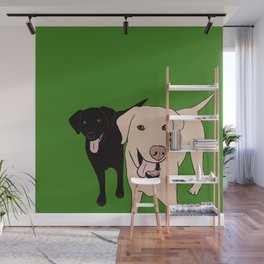 Tanner and Lily Best Labrador Buddies Wall Mural