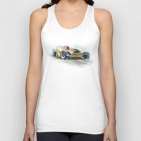 racing Tank Tops featuring racing car3 by tatiana-teni