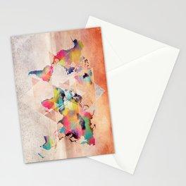 world map 33 sacred Stationery Cards