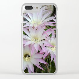 PINK CACTUS FLOWERS Clear iPhone Case