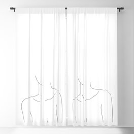 Neckline collar bones drawing - Erin Blackout Curtain