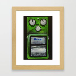 "Ibanez TS-9 Tube Screamer Guitar Pedal acrylics on 5"" x 7"" canvas board Framed Art Print"