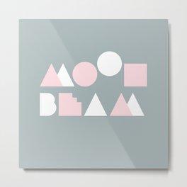 Moonbeam Mountains Metal Print