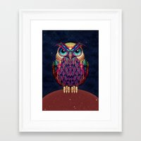 owl Framed Art Prints featuring OWL 2 by Ali GULEC