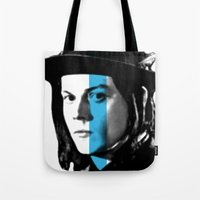 jack white Tote Bags featuring Jack White by nufertity