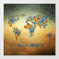 map Canvas Prints featuring map by mark ashkenazi