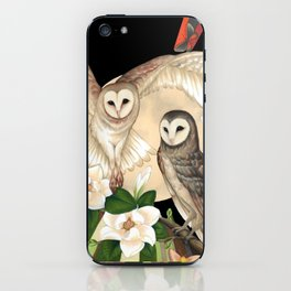 Owls + Moths iPhone Skin