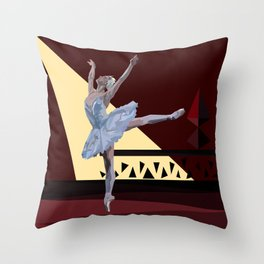 'Swan Lake Ballerina' Throw Pillow