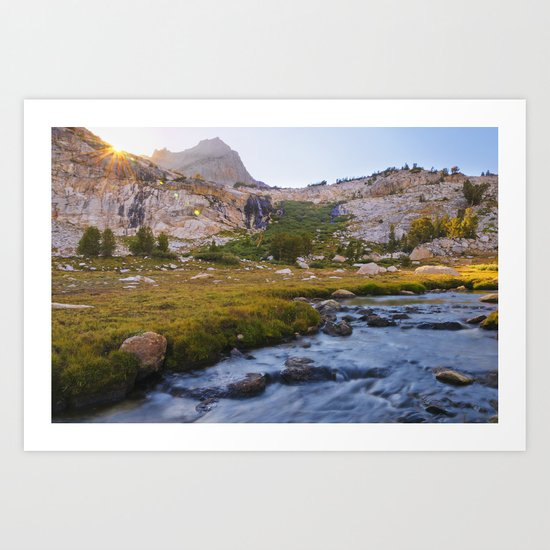 SaddleBag Lake River Art Print