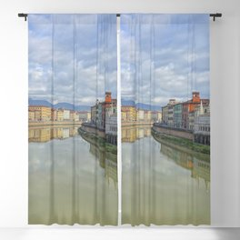 Colorful old houses in Pisa, Tuscany, Italy Blackout Curtain