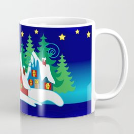 Christmas, Home for the Holidays Midnight Blue, Holiday Fantasy Collection Coffee Mug
