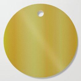 Gold Bright Metallic Carbon Fiber Pattern Cutting Board