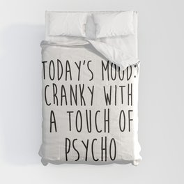 Today's Mood, Funny Quote Comforters