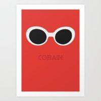 kurt cobain Art Prints featuring Cobain, Kurt by Balansaaaaaaaa