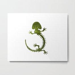 Hellbender skeleton Metal Print