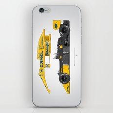 Outline Series N.º5, Ayrton Senna, Lotus 99T-Honda, 1987 iPhone & iPod Skin