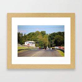 Eighth-Mile Track Framed Art Print