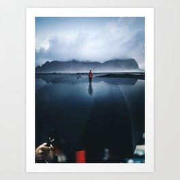 Sky Lake Umbrella by GEN Z Art Print