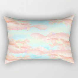 Cotton candy sky Rectangular Pillow