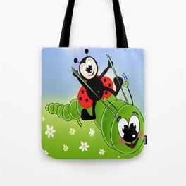 Ladybug and Caterpillar Tote Bag