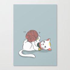 Playful Maneki Neko Canvas Print