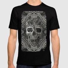 Lace Skull Mens Fitted Tee Black MEDIUM