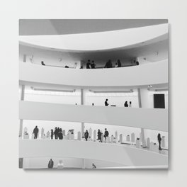 Sunday at the Guggenheim Metal Print