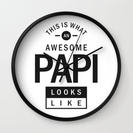 Awesome Papi Wall Clock