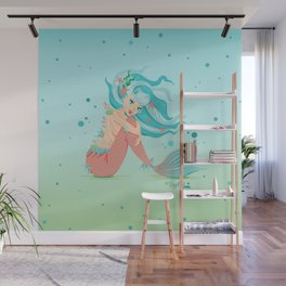 Monster Mermaid Pin-Up Wall Mural