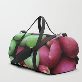 Green and red Apples Duffle Bag