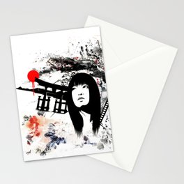 Japanese Geisha Warrior Stationery Cards