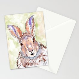 Peek-a-boo Hare Stationery Cards