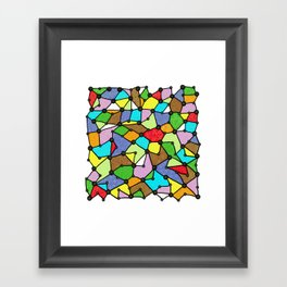 Yzor pattern 130001 Connexions  Framed Art Print