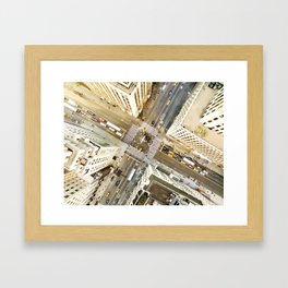 Aerial view of New York Framed Art Print