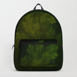 Beautiful Fractal Pines in the Misty Spring Night Backpack